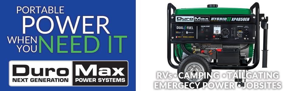 Duromax XP4850EH Dual Fuel 4850 Watt Portable Generator