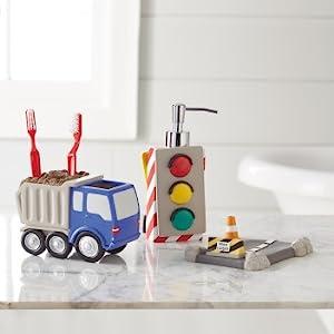 trains trucks bathroom