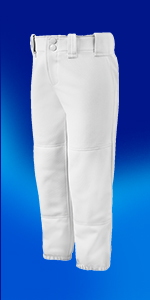 Amazon.com: Mizuno Girls (Youth) Belted Softball Pant ...