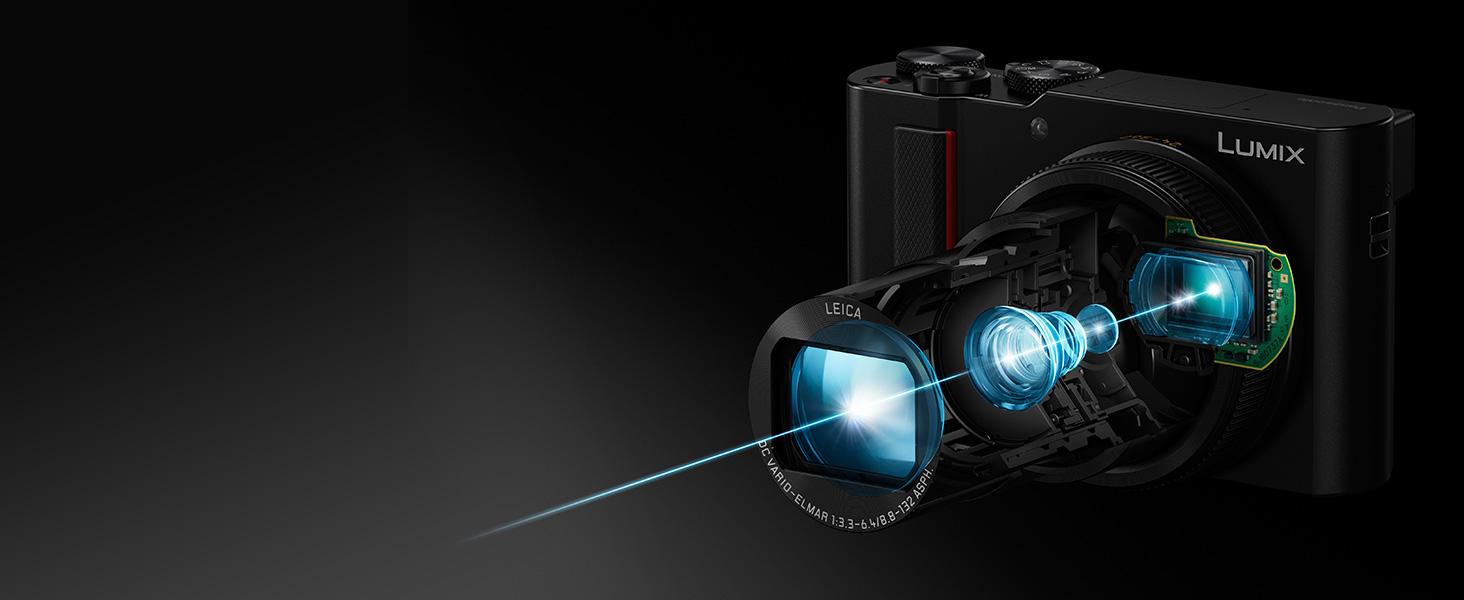 LUMIX ZS100 Large 1 inch sensor good low light performance