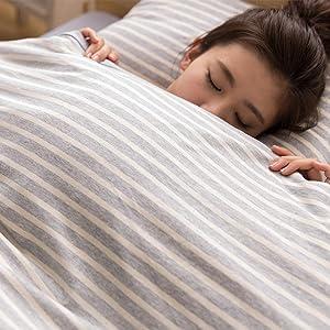 mofua natural 綿100% 肌になじむ 天竺ニット 布団カバーセット はオールシーズンOK