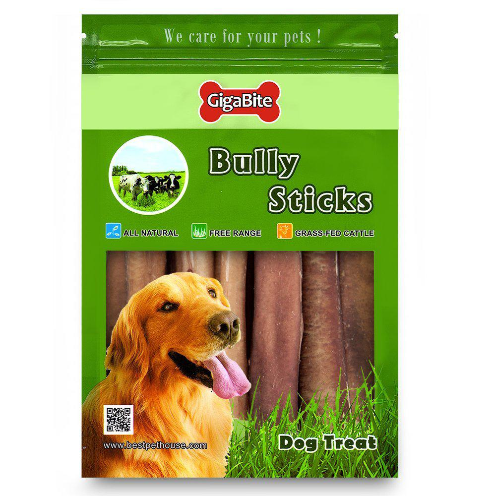 best pet supplies bps fda and usda certified thick plain bully sticks 6 inch 25 piece pack. Black Bedroom Furniture Sets. Home Design Ideas