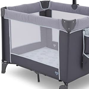 Amazon.com: Delta Children LX Deluxe Play Yard - Cuna ...