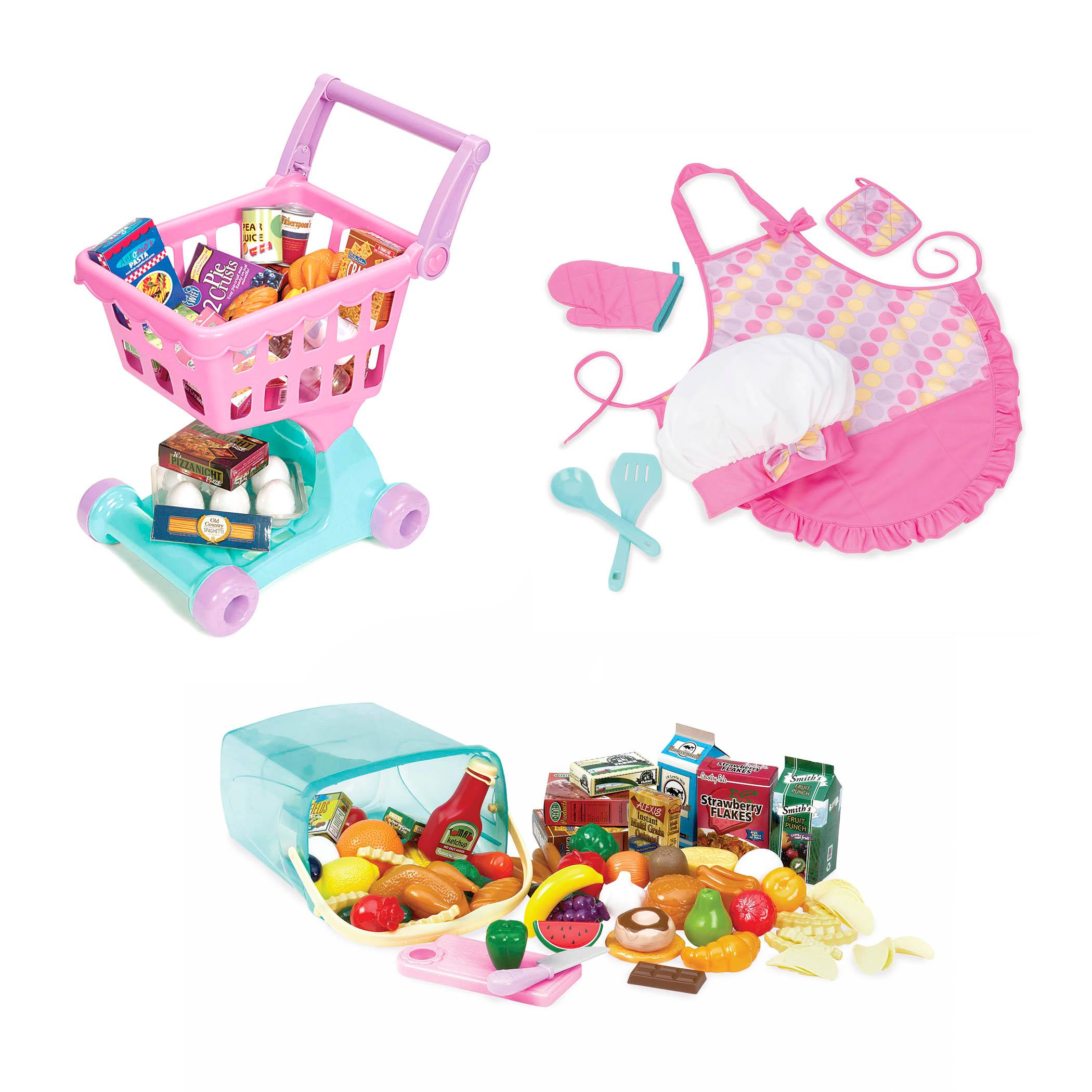 Play circle birthday pretend play food for kids 24 pieces for Kids kitchen set canada