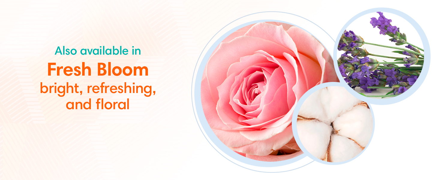 Also available in Fresh Bloom bright, refreshing and floral