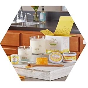honey beeswax all natural candles