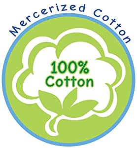 100% cotton, mercerized