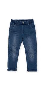Pantalones vaqueros para niños pequeños, para primavera, verano, guardería, versátiles, color azul