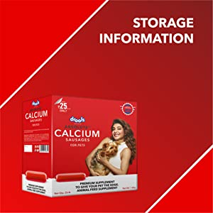 ABSOLUTE CALCIUM SAUSAGE , DROOLS , DOG SUPPLEMENT