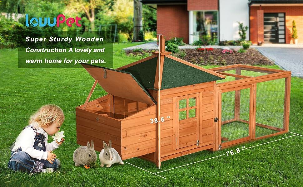 Amazon Com Lovupet Waterproof Wooden Chicken Coop Backyard Nest