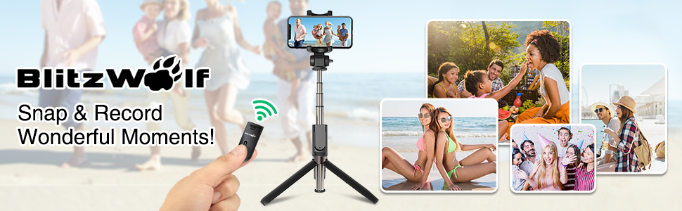 selfie stick tripod with bluetooth remote, snap wonderful moments.