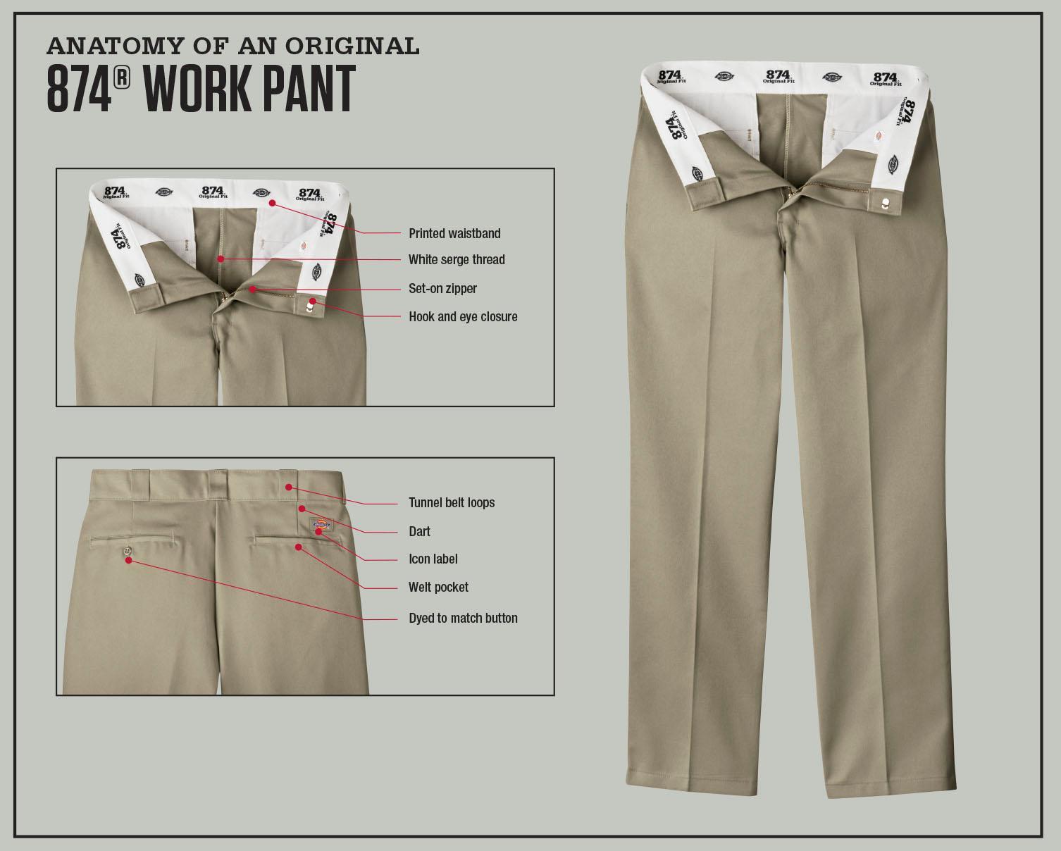 c063fd6ee3e Amazon.com  Dickies Work Clothes  Men s Stain Release Khaki Work ...