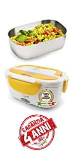 Spice Scaldavivande Portatile con Vaschetta Estraibile in Acciaio Inossidabile, 40 W, 1.5 Liters Garanzia 4 Anni