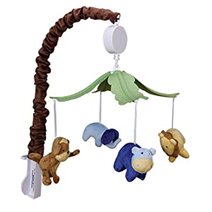 jungle mobile, musical mobile, crib bedding, nursery decor, nursery accessories