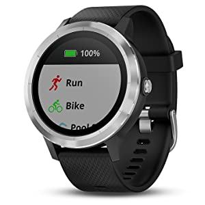 vivoactive 3 - black and silver