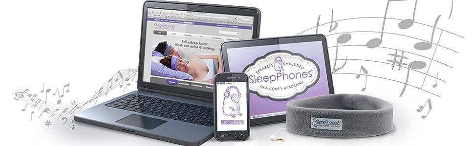 ab98c974ca3 Amazon.com: AcousticSheep SleepPhones Classic | Corded Headphones ...