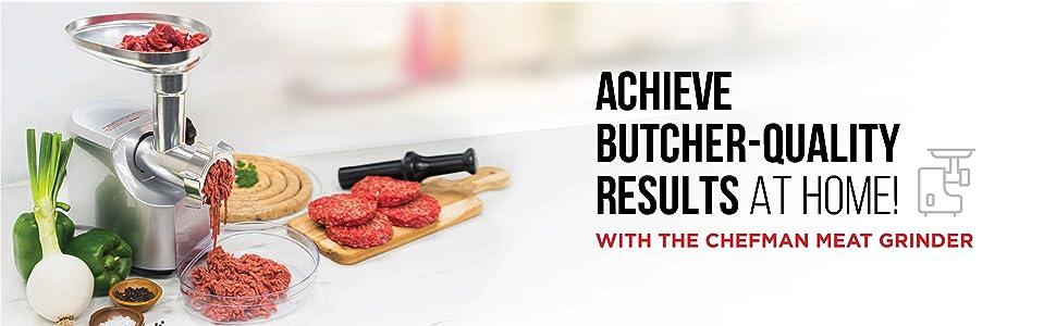 Chefman electric meat grinder sausage stuffer mincer kibbeh