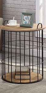 Storage basket table
