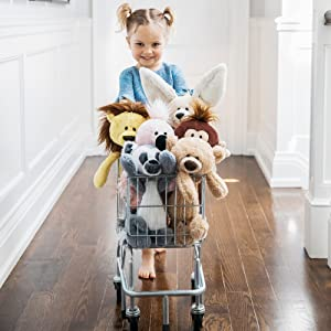 toothpick stuffed animals plush shopping cart little girl gund
