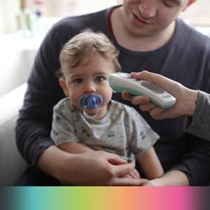 Tommee Tippee digital no táctil frente Termómetro Fiebre del cuerpo de bebé indicador LC