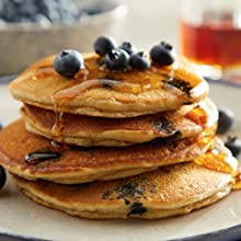 pancakes almond flour gluten free blueberry baking cooking breakfast