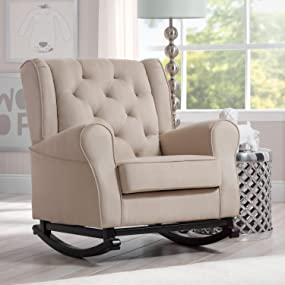 Bon Delta Children Emma Nursery Rocking Chair, Ecru