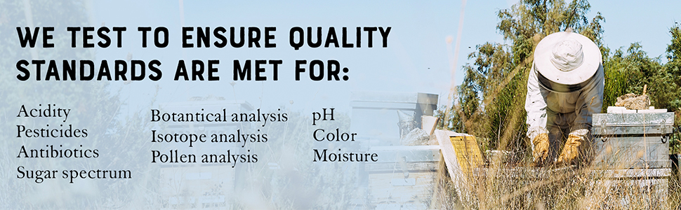 We do a variety of tests to ensure our quality standards are met.