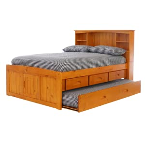 bd furniture and decor.htm amazon com deco 79 full bookcase captains bed with 3 drawers and  deco 79 full bookcase captains bed