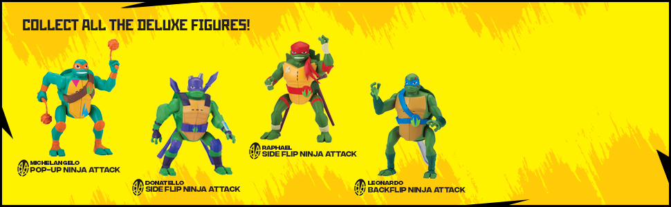Rise of the Teenage Mutant Ninja Turtles Raphael Side Flip Ninja Attack Deluxe Figure