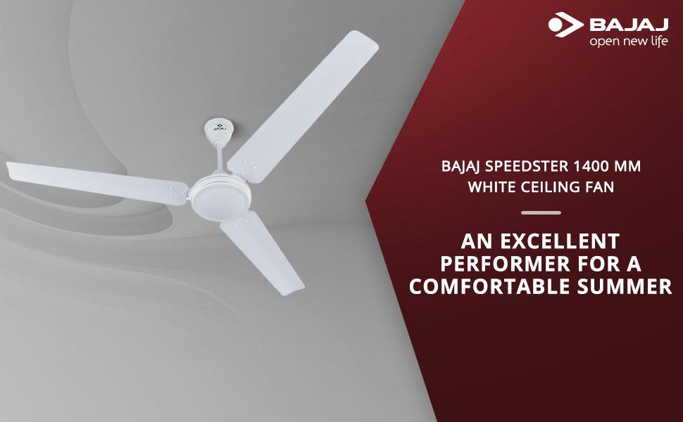 Bajaj Speedster 1400mm Ceiling Fan (White) SPN-FOR1