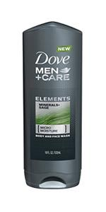 Dove Men+Care Minerals & Sage Body and Face Wash 18 oz