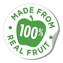 made from 100% real fruit