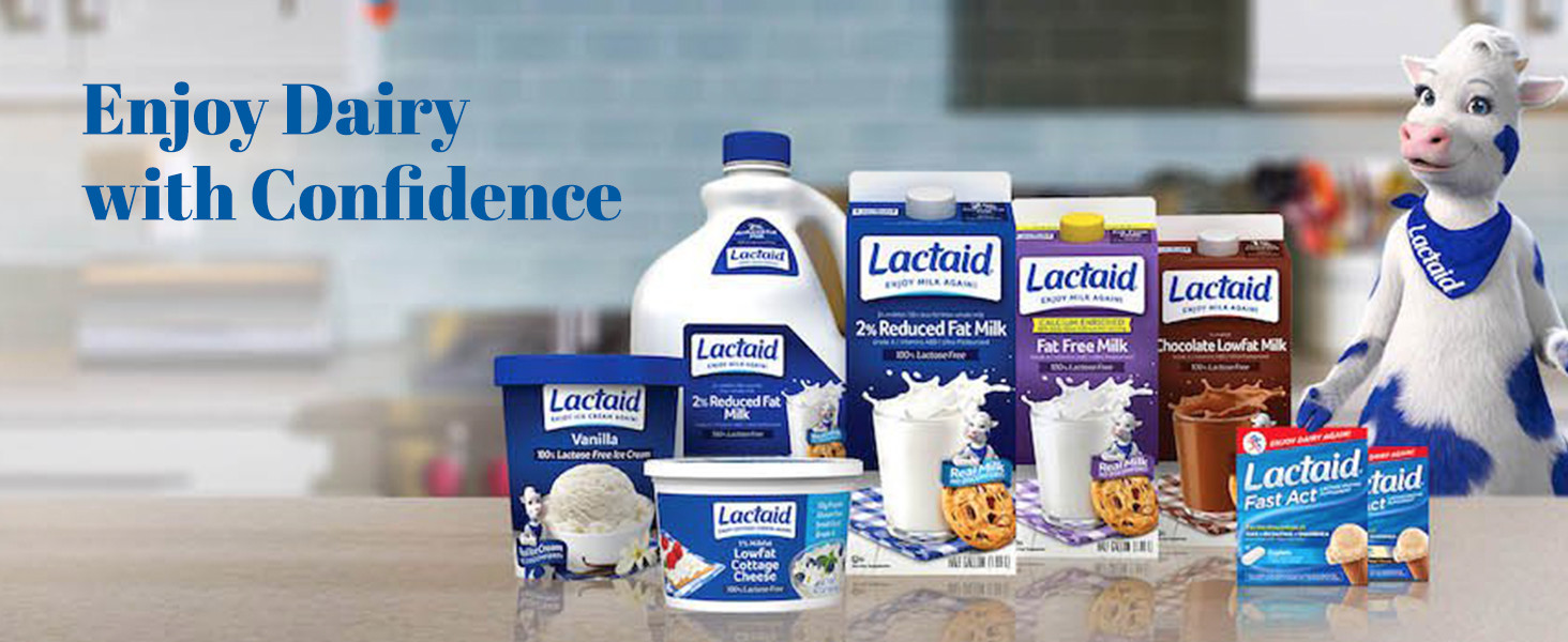 lactaid, lactose intolerance, dairy sensitive, dairy, supplements, fast act