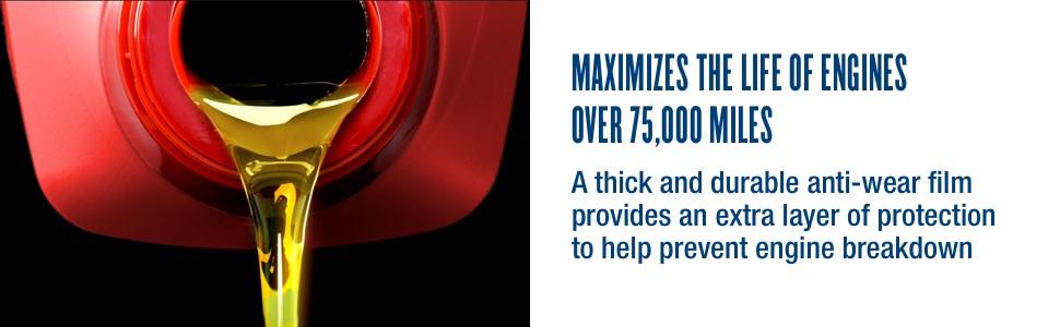 maximizes life of engines