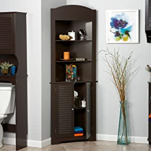 Amazon.com: RiverRidge Home Ellsworth Floor Cabinet with Side ...