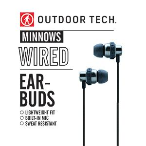 Electric Blue Outdoor Tech Minnows Earbuds