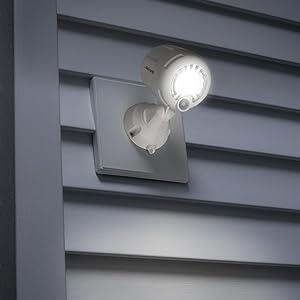 battery led powered spotlight, led motion sensor light, wireless led spotlight, security spotlight