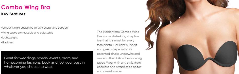 24d8d08aeccda Maidenform Women s Combo Wing Bra at Amazon Women s Clothing store ...