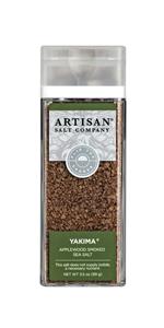 saltworks artisan yakima applewood smoked sea salt shaker