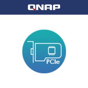 PCIe拡張スロットにマルチギガビット10GbE、5GbEネットワークカードや、キャッシュ用のM.2 NVMeやSATA SSDを追加するQM2カードを差し込めます。