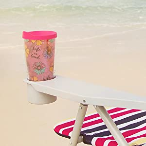 Life is Good Beach Chair - Large Drink Holders