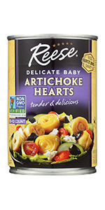 Reese Delicate Baby Artichoke Hearts, 14-Ounces (Pack of 12)