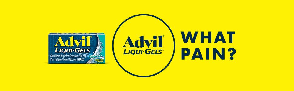 advil liqui-gels ibuprofen pain relief headache fever reducer