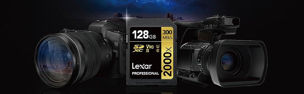 LSD2000032G-BNNAG Jusqu/à 300 Mo//s en Lecture Carte UHS-II Lexar Professional 2000x 32 Go SDHC sans Lecteur