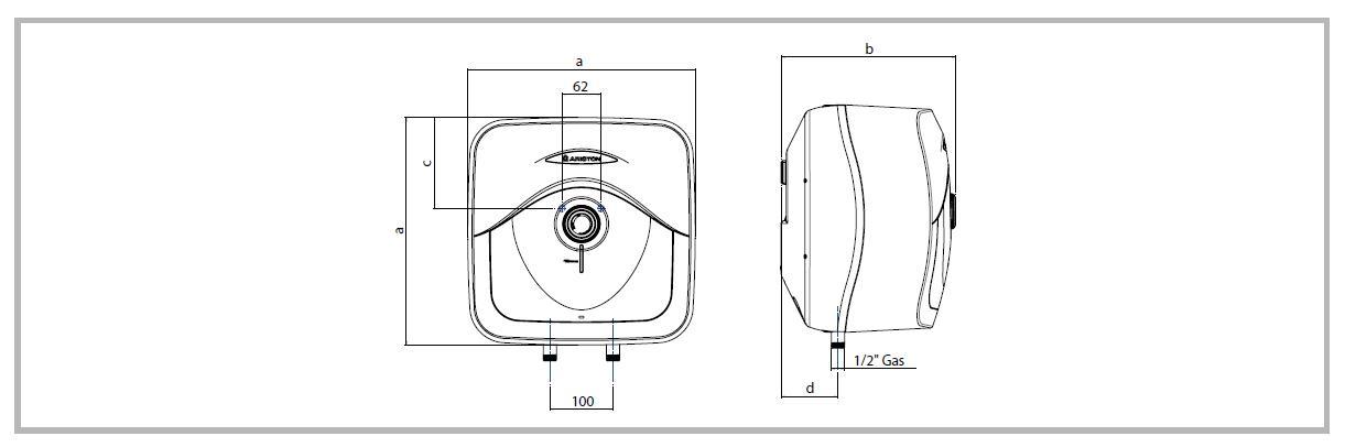 Ariston 3100313 scaldabagno elettrico 10 litri for Boiler elettrico classe a