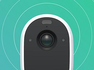 Arlo, essential, spotlight, siren, security camera, wire-free, battery camera