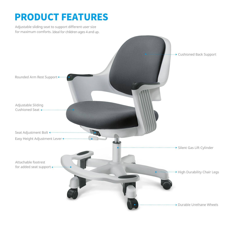 Childrens Kids Desk Chair Ergonomic Design With