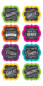 Chalkboard Brights Stickers