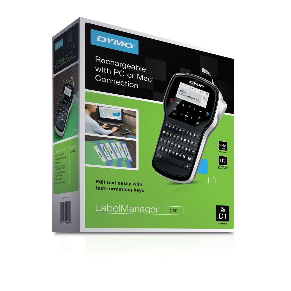 dymo s0968950 labelmanager 280 etiqueteuse de bureau portable clavier azerty. Black Bedroom Furniture Sets. Home Design Ideas