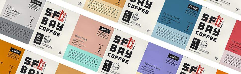 SF Bay Coffee, Coffee k cups, single serve pods, coffee, Keurig, compostable coffee pods